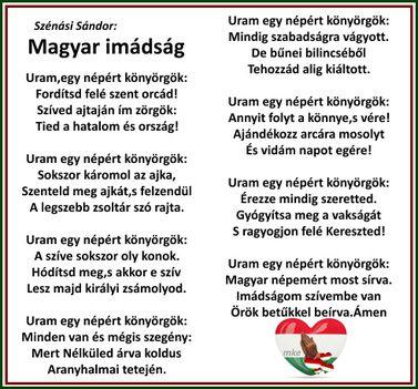 Magyar imádság.