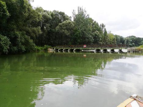 Szent Kristóf vízszintszabályozó műtárgy a felvízről nézve, Kisbodak 2018 augusztus 14.-én 1
