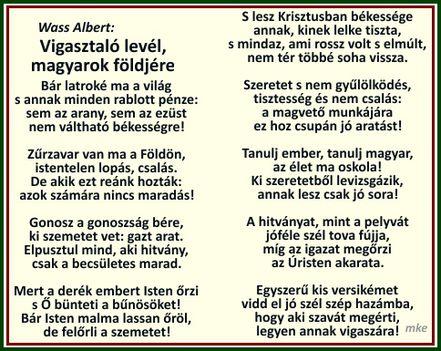 Vigasztaló levél, magyarok földjére