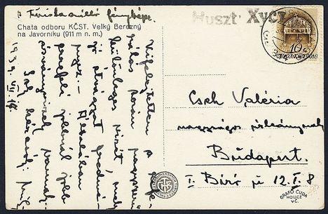 1939-es huszti képeslap
