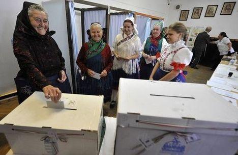 szavazás Veresegyházon