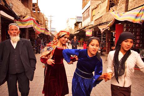 kashgar lányok