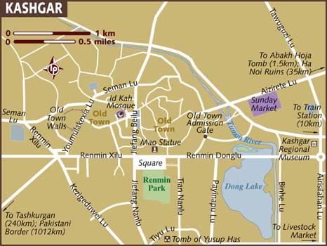 kashgar térképe