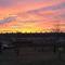 Napnyugta Moson belvárosa felett, Mosonmagyaróvár 2019. január 16.- án 2