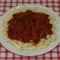 Szarvacska tészta babos-húsos-paradicsomos raguval