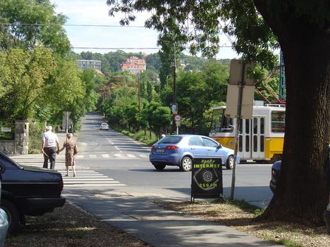 a Badacsonyi utca folytatása a Gellérthegy felé mint Szüret utca