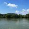 Duna folyam főmeder Rajka térségében, 2016. augusztus 28.-án 2