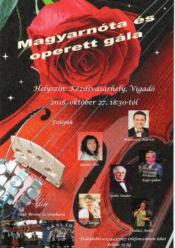Magyarnóta és operett gála