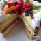 Gyümölcsös torta szeletelve