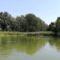 Az Agg-Duna bal partján látható a Pálffy-szigeti ág torkolata, Kisbodak 2018. augusztus 09.-én
