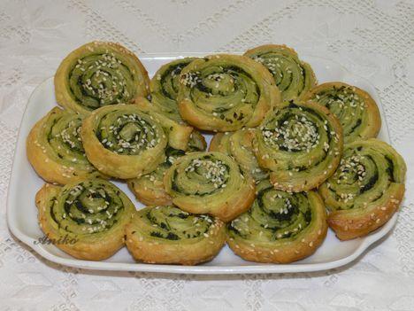 Medvehagymás zöld csigák