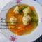 Zöldségleves szines burgonya gombóccal