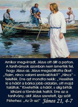 János 21, 4-7
