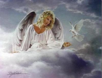 angyal afelhőn