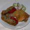 Sült csirkecomb Anna töltelékével