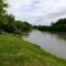 Mosoni-Duna folyó a Mosoni strandnál, Mosonmagyaróvár 2019. június 08.-án 4