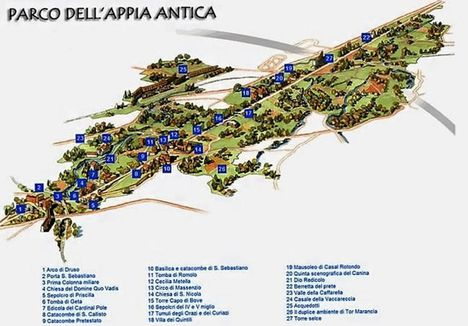 Appia Antica térkép
