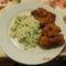 Rántott csirkeszárny párolt rizsel