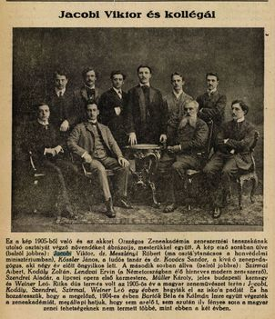 Jacobi Viktor a Zeneakadémián Színházi Élet 1921. 52. szám