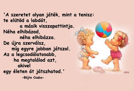 A szeretet olyan mint a játék