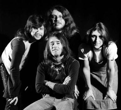 Somló (balról) Presser (hátul), Laux (elől) és Karácsony alkotta az LGT-t 1974 szeptemberétől