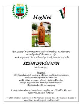 Szent István napi rendezvény