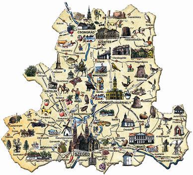 Turisztikai térkép - Somogy megye