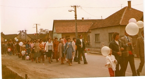 1981., május elsejei felvonulás. /Kép: Bacsó Miklósné/