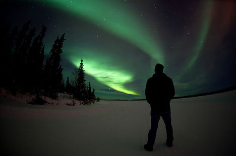 a sarki fény Kanadában (foto - davebrosha)