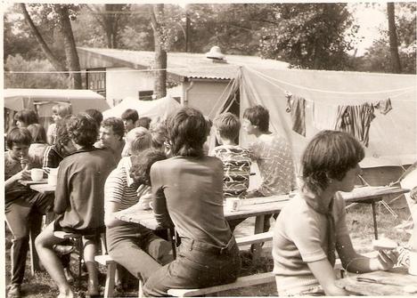 Balatonberény, nagymányoki tábor, 1970-es évek vége. /Kép: Gänszler Gáborné/