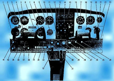 Cessna műszerfal oktatáshoz
