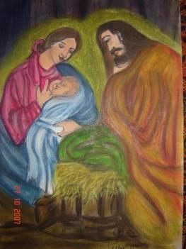 Szent család (pasztel)
