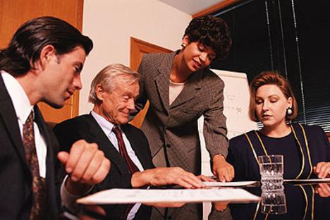 vállalati megbeszélésen