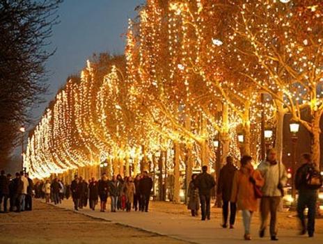 Karácsony Champs Elysees paris