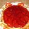 Epres torta friss eperből, piskóta alappal, saját készítés