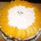 Oroszkrém torta barackosan