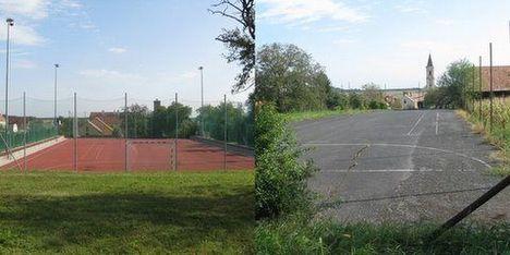 Új és régi sportpálya