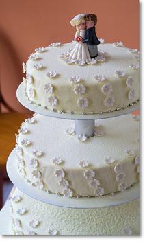 fehér esküvői torta