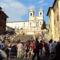 """Trinita dei Monti templom és a """"spanyol lépcső"""""""