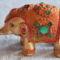 elefánt, felfelé kanyarodó orrmánnyal
