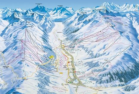 Livigno sítérkép