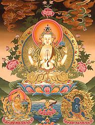 Chenrezig Shadakshari Avalokiteshvara