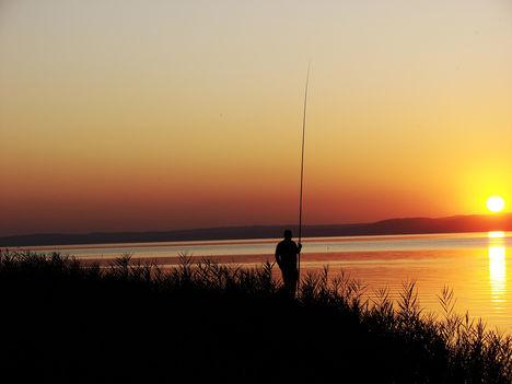 Balaton, csodás naplementéje.--Hajni 2