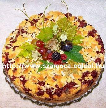 MÁKOS-MEGGYES TORTA