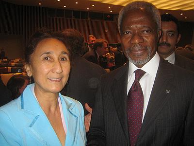 Rebiya és Kofi Annan