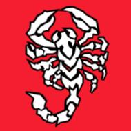 pirosban fehér skorpió