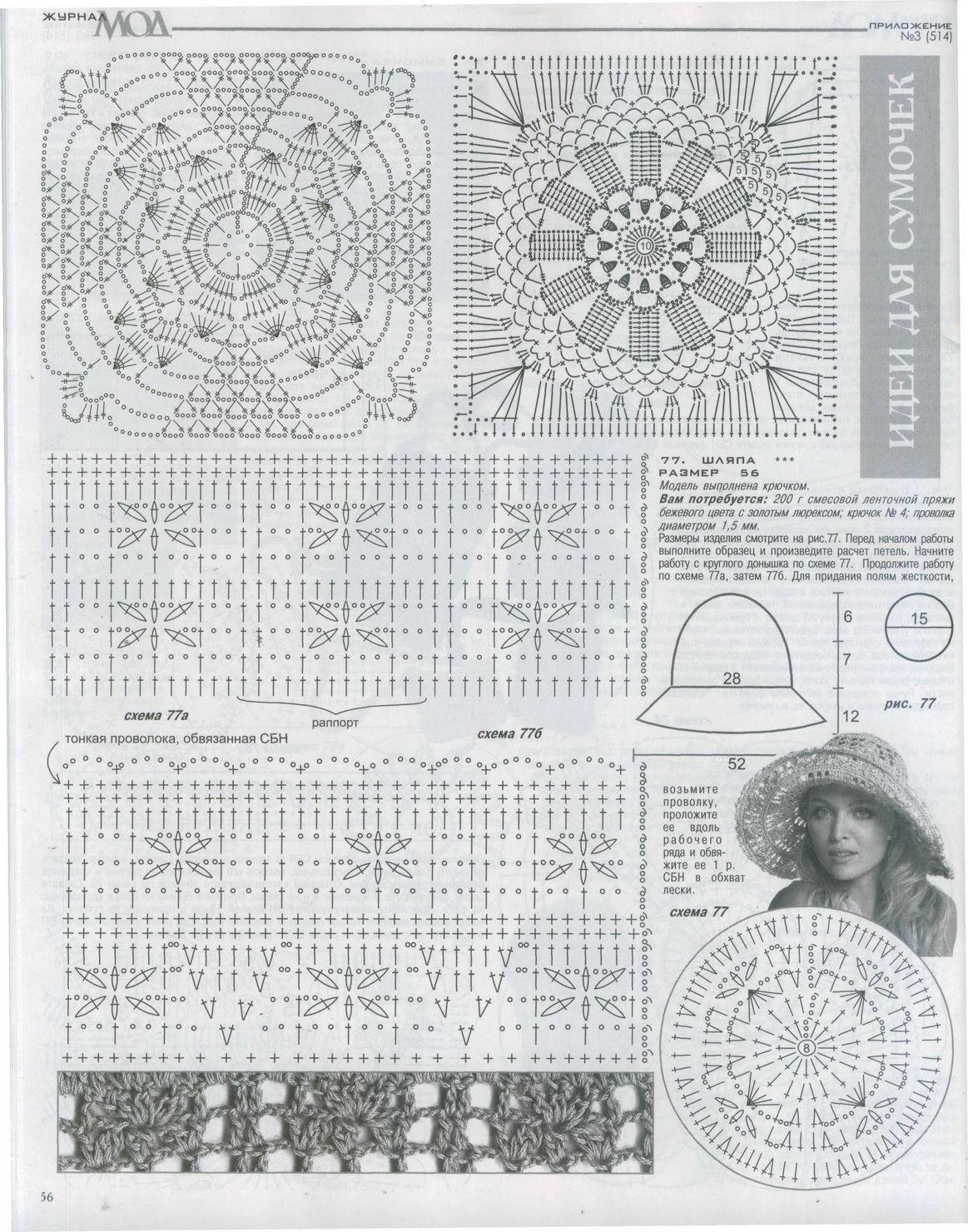 вязаная шляпка спицами схема и описание