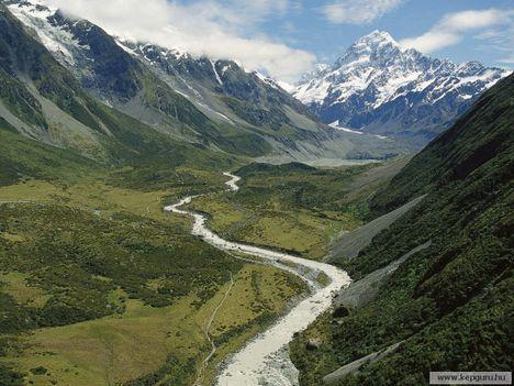 Hooker-völgy-Mount_Cook_Nemzeti_Park