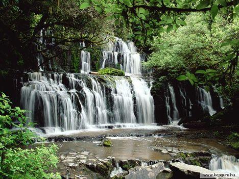 Purakaunui-vízesés-Catlins-Déli-sziget