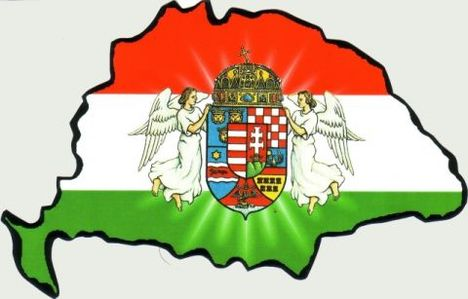 Magyar Királyság + angyalos címer
